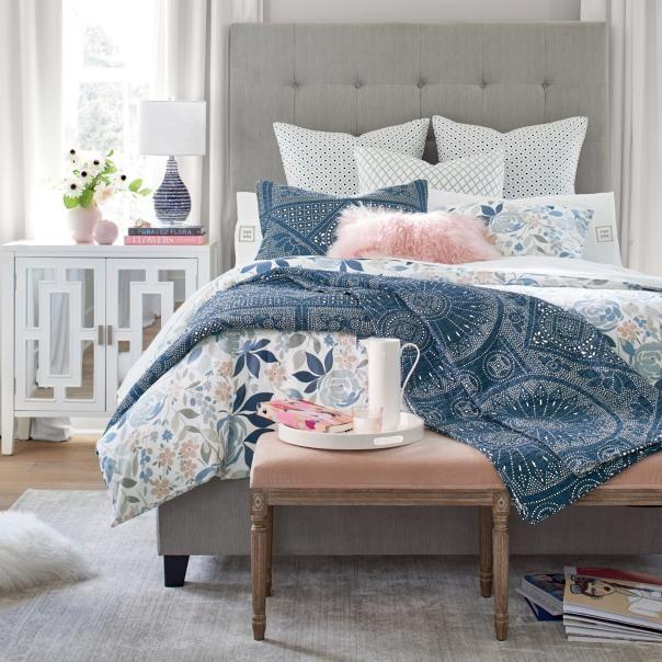 Rosalie Duvet   Grandin Road   Gorgeous bed, Bed, Tall headboard