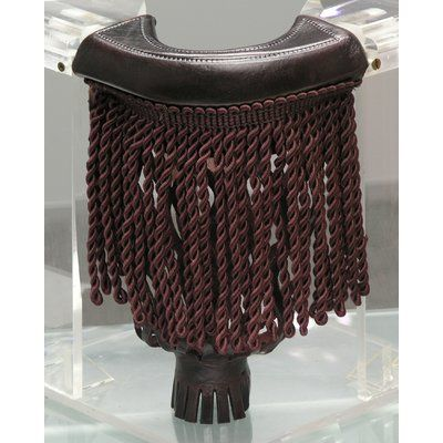 The Level Best Pool Table Pockets with Fringe Color: Cordovan with Chocolate Fringe