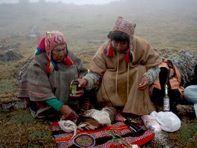 Q'ero peoples, I experienced their Andean mountain existence of 15,000 feet. It is high up, cold and intense. The moment I stepped foot into our first camp at 10,000 feet I could feel the emotions welling up inside of me, connecting me to an ancient land where only tenacious people could survive.