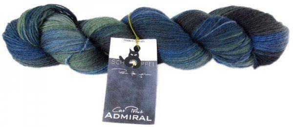 Schoppel-Wolle Admiral Cat Print Yarn  Seewolf