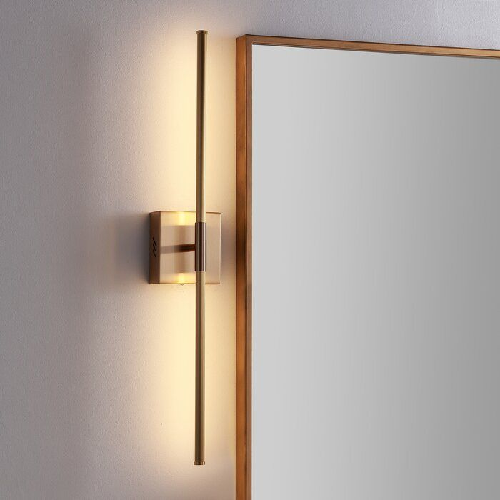 Gallatin 1 Light Led Dimmable Armed Sconce Sconces Metal Wall Sconce Contemporary Wall Sconces