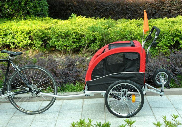 Pawhut 2in1 pet jogging stroller dog cat bike bicycle