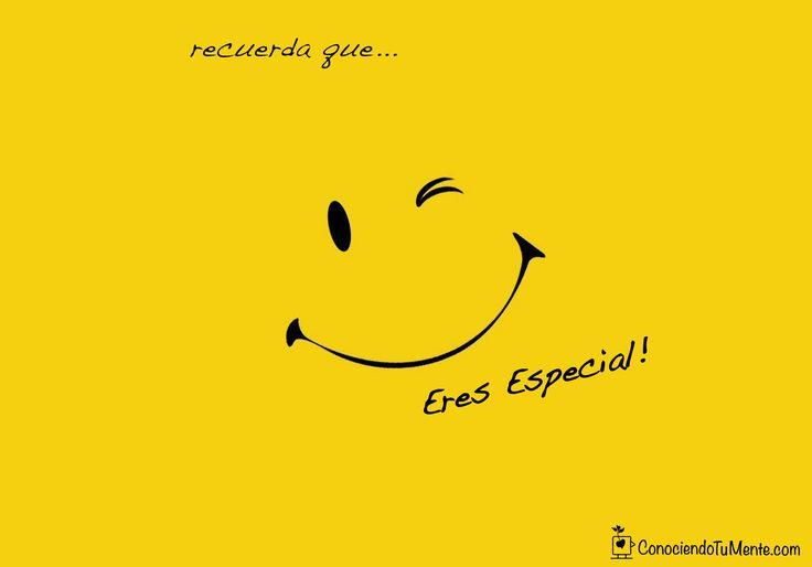 Cuando te sientas triste o deprimido, recuerda que eres especial, no hay nadie como tú! #ConociendoTuMente #PsicologíaDiaria