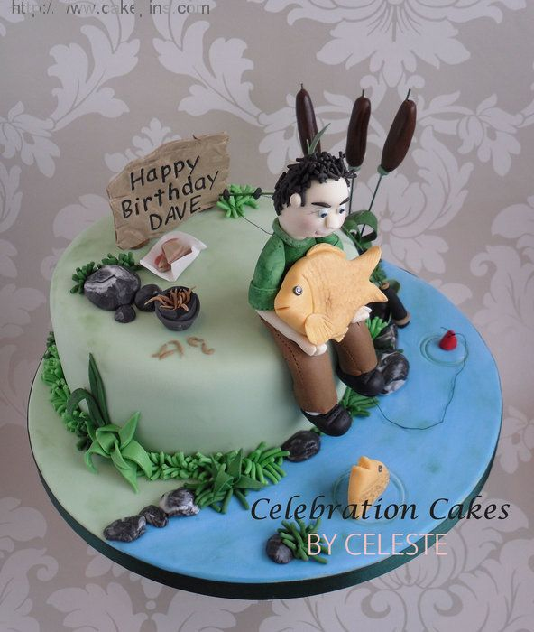 Carp Fishing Theme Birthday Cake  By Celebration Cakes Celeste picture 28601