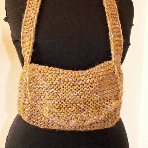 pletená kabelka s klopou