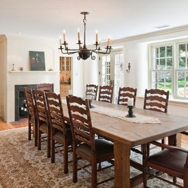farmhouse dining room by Period Architecture Ltd.