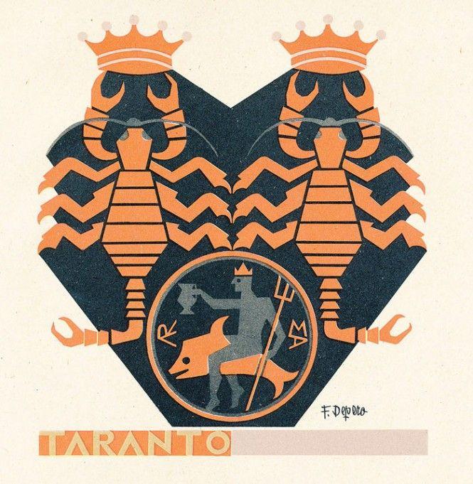 Taranto - le Province italiane - Fortunato Depero (1938)