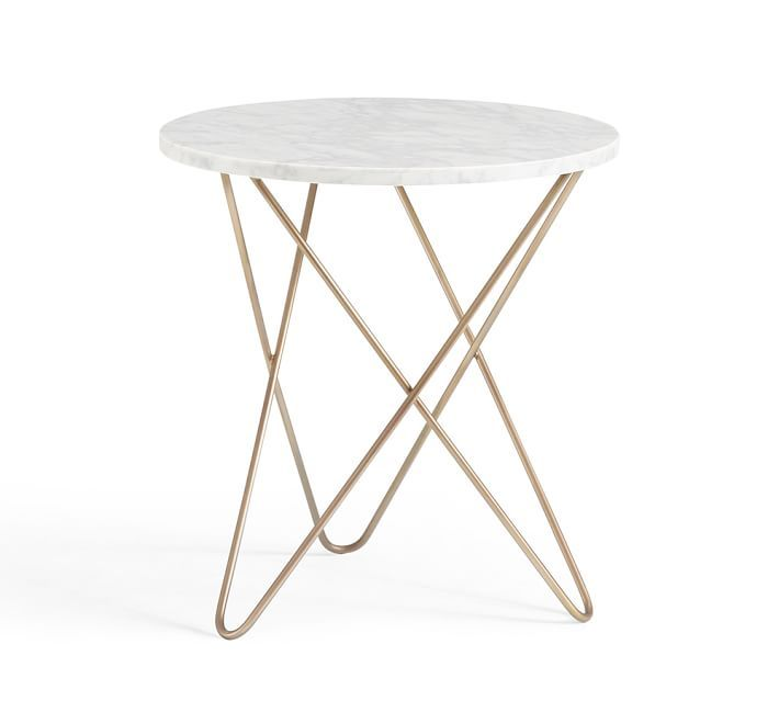 DARCY MARBLE-TOP ACCENT SIDE TABLE | Havenly