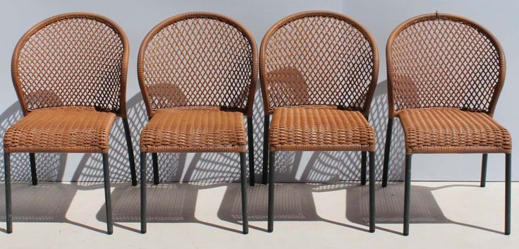 Condition:  Used  4 Polyrattan and Metal Chairs  size per chair: 420 L x 440 W X 840 H  R2000 for the four chairs  Cell 076 706 4700  Tel 021 -558 7546  www.furnicape.co.za  0223