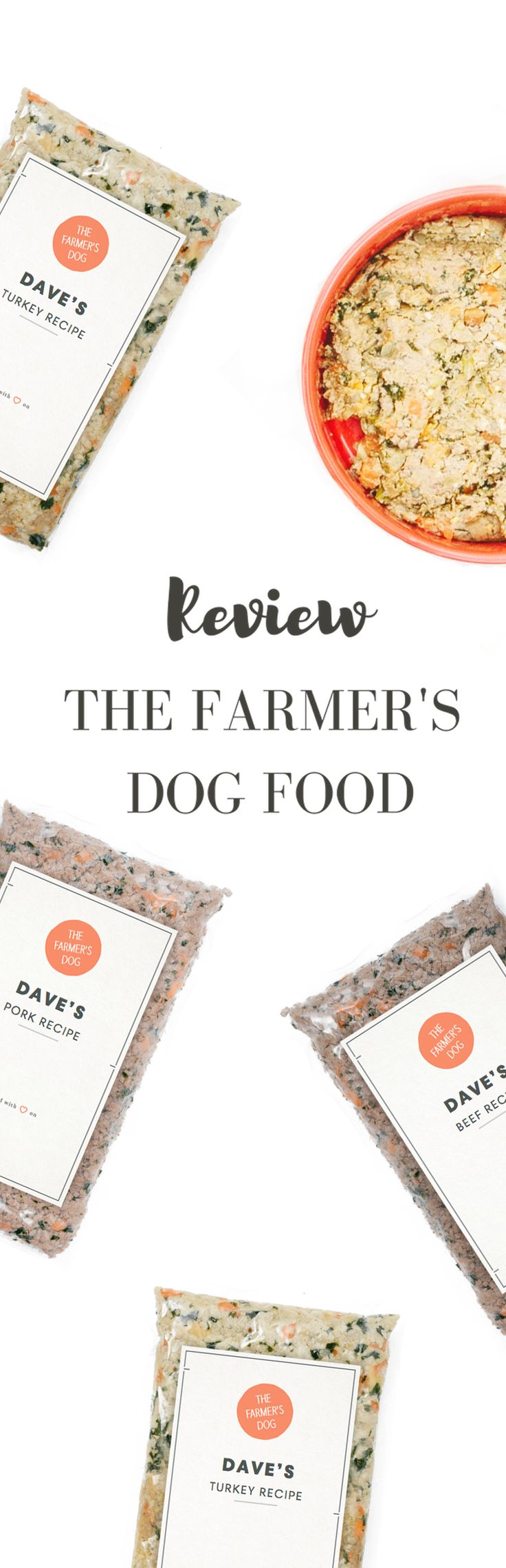 Review of The Farmer's Dog Food  Pinned by www.thedapple.com | Design | Dog Treat | Dogs | Dog Treats | Dog Training | Raising a Puppy | Pretty Dog Treats | Funny Dog Treats | Best Dog Treats |  Dog Treat DIY | Healthy Dog Treats | Homemade Dog Treats | Dog Bakery | Natural Dog Treats | Organic Dog Treats | Human Grade Dog Food | Homemade Dog Food | Subscription Dog Food |