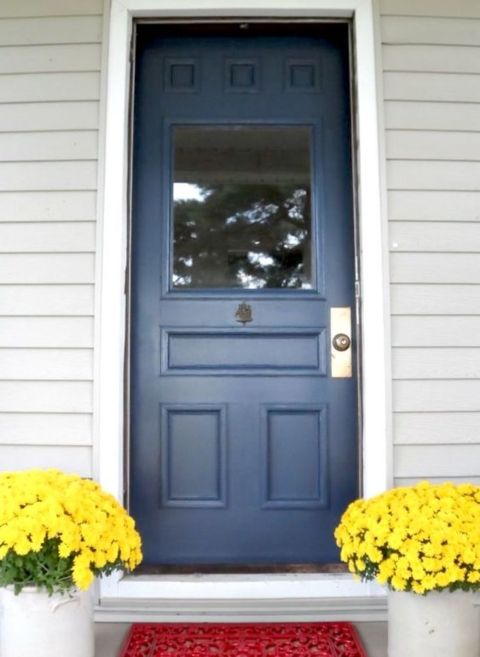 Best 25 navy front doors ideas on pinterest exterior for Navy blue front door