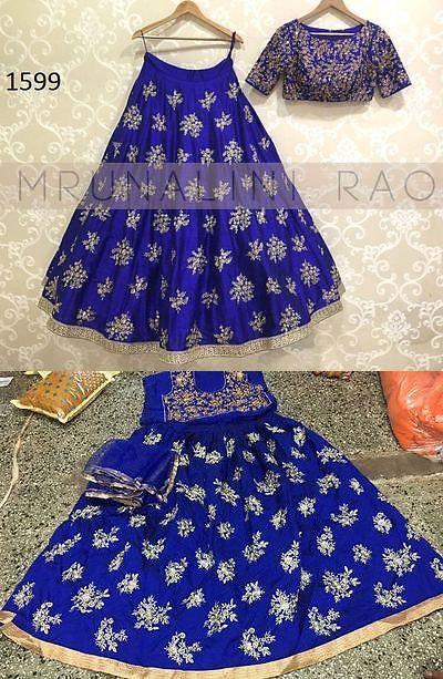 Choli 155247: Designer Pakistani Embroidered Lehenga Indian Bollywood Tafeta Silk Ghagra Choli -> BUY IT NOW ONLY: $47 on eBay!