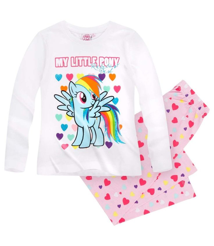 My Little Pony Girls Long Sleeve Pyjamas Set 3-10 years 2016 Collection - White