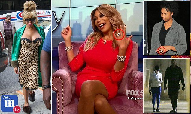 Wendy Williams took to her TV show on Tuesday to flash her wedding ring in the wake of a report that her husband was cheating on her with a massage therapist, declaring that she was standing by him. Wendy Williams on cheating husband Kevin Hunter bombshell