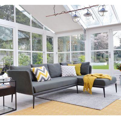Burgas right hand corner sofa dark grey