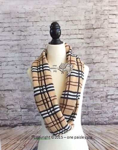 Burberry Inspired Plaid Cowl Pattern By Paisley Knit Tuck Diy
