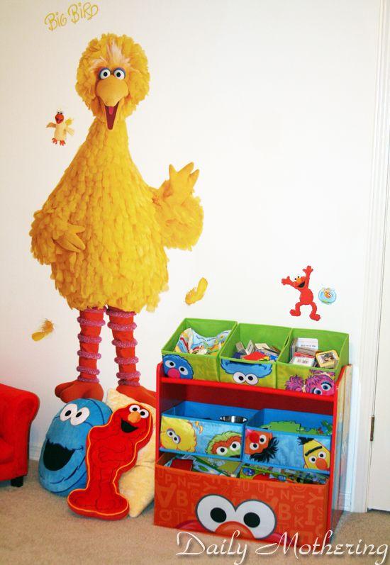 Elmo Bedroom Decorating Ideas: Sesame Street Big Bird Wall Decal Room Decor