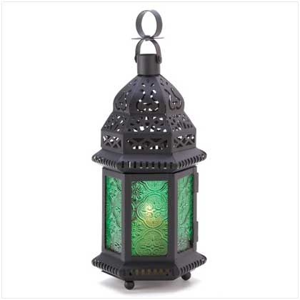 Buy Wholesale Green Glass Moroccan Lantern A Halo Of Emerald Green Casts A Serene Glow As Intricate Cutouts Cast A Net Of Starlight Into The Tranquil Dark