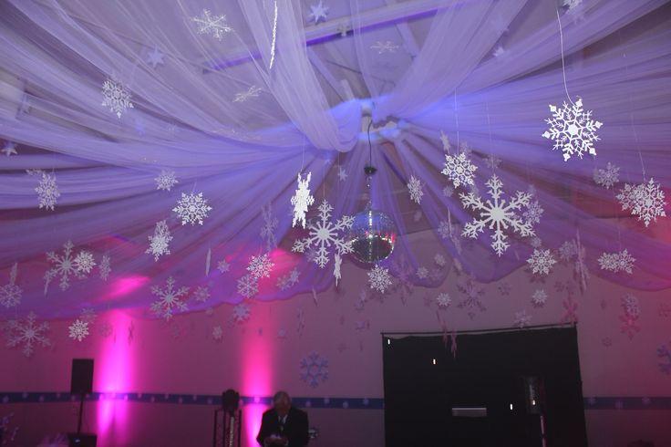 winter wonderland sweet 16 birthday party