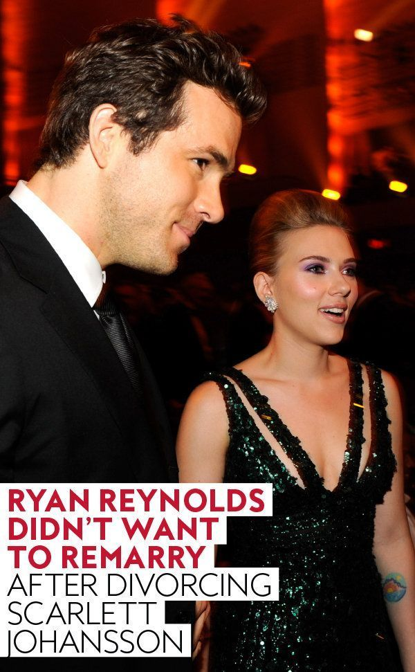 Ryan Reynolds Didn T Want To Get Married Again After His Divorce From Scarlett Johansson Ryan Reynolds Scarlett Johansson Ryan Reynolds And Scarlett