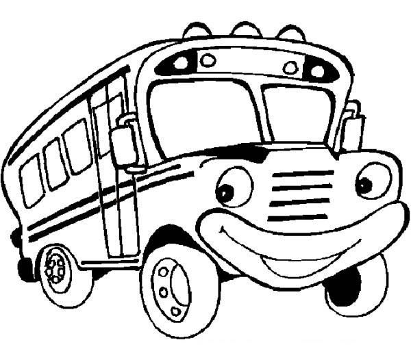 School Bus Coloring Pages | Free kids coloring pages ...