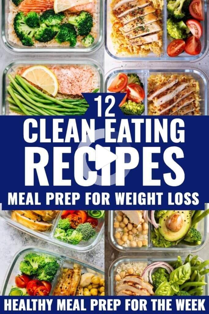 Saubere Rezepte, um Gewicht zu verlieren