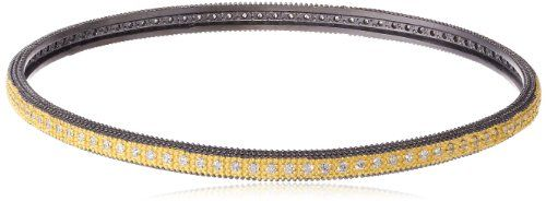 Freida Rothman Reverse Eternity Two Tone Bangle Bracelet 785 -- Check out this great product.