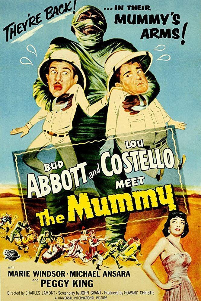 Abbott And Costello Meet The Mummy 1955 Dvd In 2020 Abbott