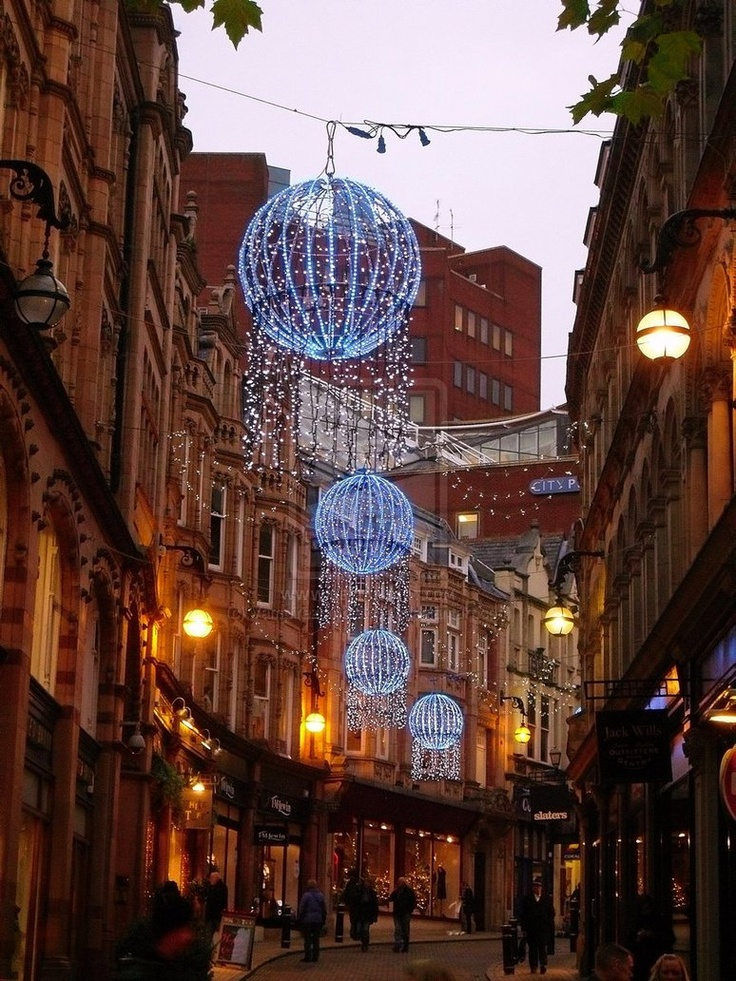 Christmas in Birmingham, England, was here two hours ago, love living near here.