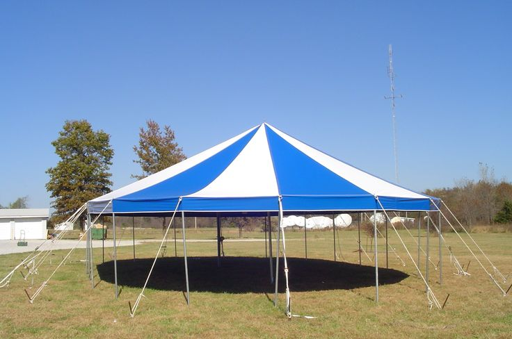 Tent manufacturer of 30' round pole tent