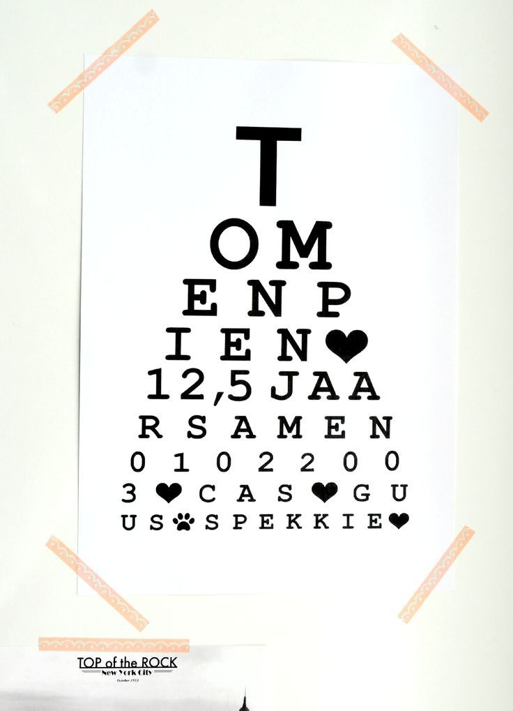 Op zoek naar een origineel kado of leuke eyecatcher in je (nieuwe) woning? Deze gepersonaliseerde ogentest is dan echt iets voor jou! Geef een leuke tekst door {max 65 tekens} en ik maak er een mooie hip & happening Persoonlijke Ogentest van.