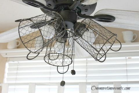 how i gave my ceiling fan a farmhouse style, diy, home decor, kitchen design, lighting