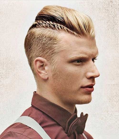 Hombre Men Undercut--get a braid in, now that's what I'm talking about...none of my boys will sit still for this!