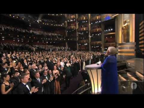 Olivia de Havilland presenting the 75th Past Oscar Winner Reunion  with 58 other past acting winners, and current acting winners Catherine Zeta-Jones, Nicole Kidman, Adrien Brody, Chris Cooper and Peter O'Toole at the 75th Academy Awards® in 2003. Introduced by Frank Pierson.