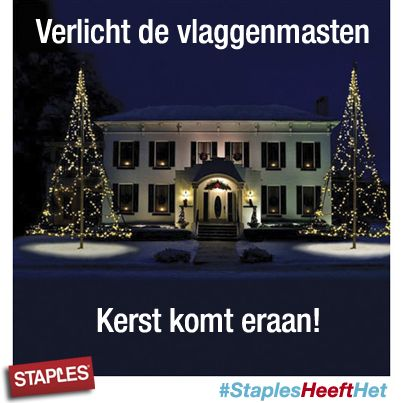 Het is al vroeg donker buiten. Tijd voor wat sfeerverlichting http://www.staples.nl/kerstverlichting/cbc/78.html?web_track_id=74013733&position_id=5&promo_code=989989999&lcb=3
