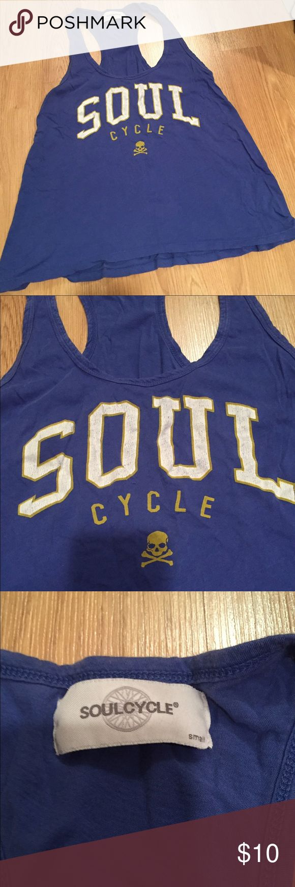 Soul cycle top Good used condition. Size small. It's like a blue purple color. Soul Cycle Tops Tank Tops