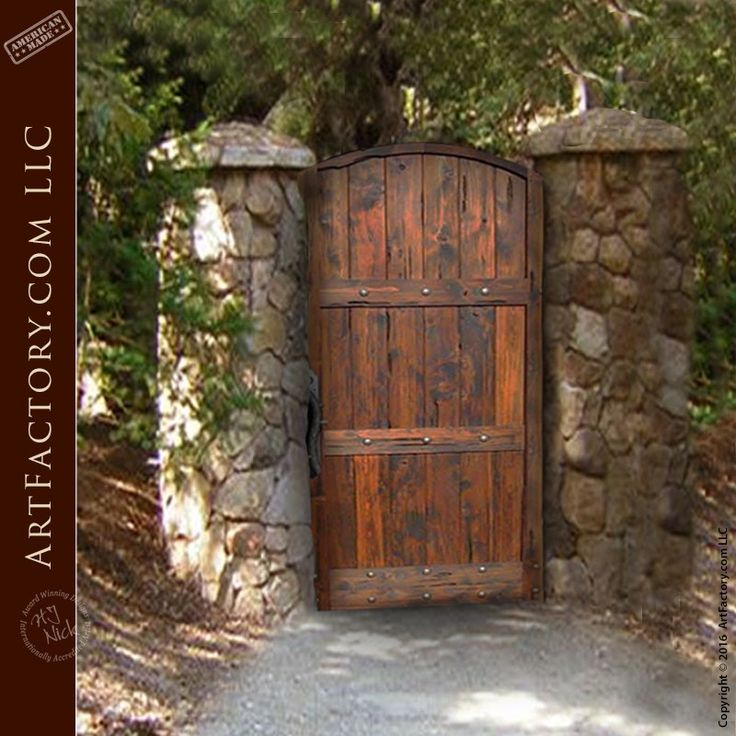 Rustic Garden Gate: Custom Handcrafted Arched Wooden Gates ...