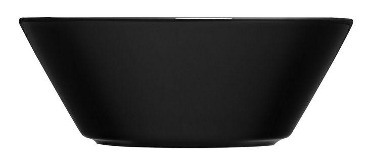Iittala Teema syvä lautanen, musta, 15 cm.