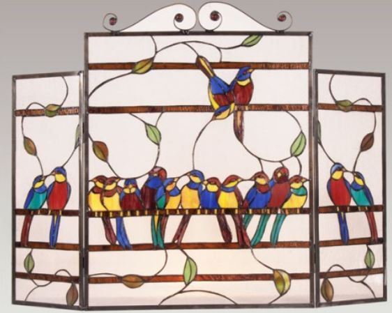 196 best stained glass fireplace screens images on ...