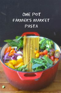One Pot Farmer's Market Pasta 5- would this work with Rice noodles?