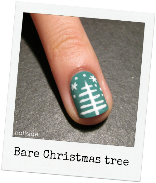 Bare Christmas Tree nails--Nailside