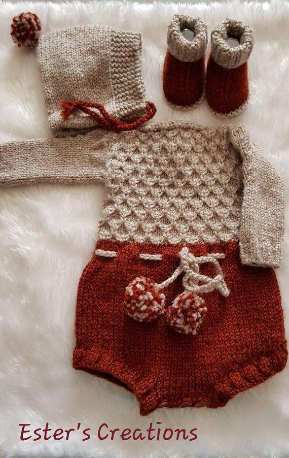 67eaff399 Longsleeve baby romper / onesie set | Animal | Baby romper pattern ...