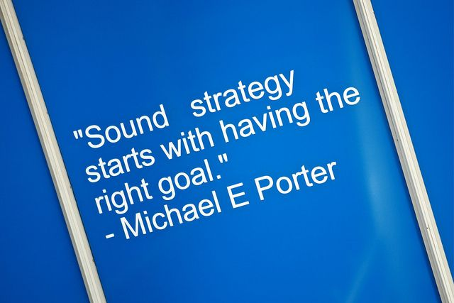 """Michael E. Porter - """"Sound strategy starts with having the right goal."""""""