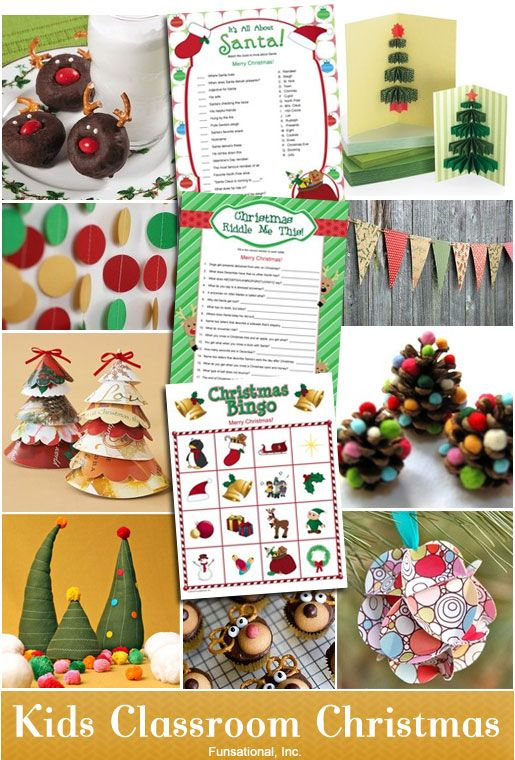 christmas party ideas | Kids Classroom Christmas Party Ideas |