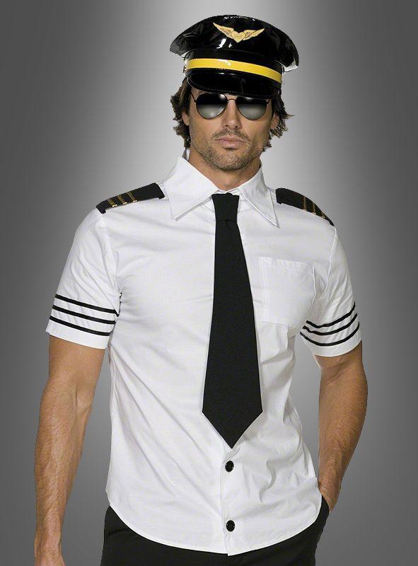 Pilot Kapitän Kostüm Flugzeug