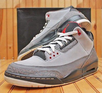 2011 Nike Air Jordan 3 III Retro Size 13 - Stealth Red Graphite - 136064 003