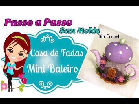 Mini Baleiro - Casa de Fadas de Biscuit - Passo a Passo - DIY - Bia Cravol