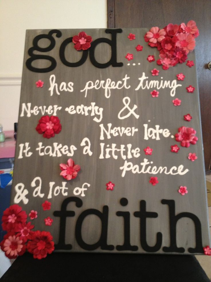 Adorable.: Remember This, Canvas Projects, Perfect Time, Hard Time, God Time, Paintings Letters, Dorm Rooms, Fabrics Flowers, Art Projects