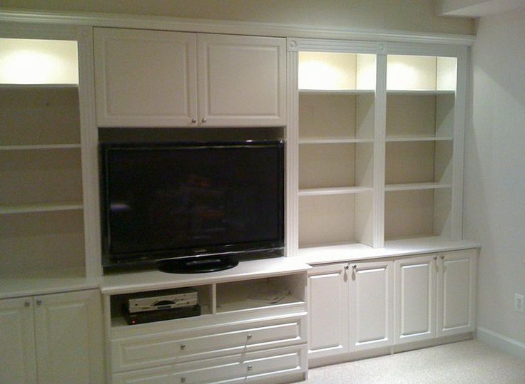 White Built In Entertainment Center For The Home