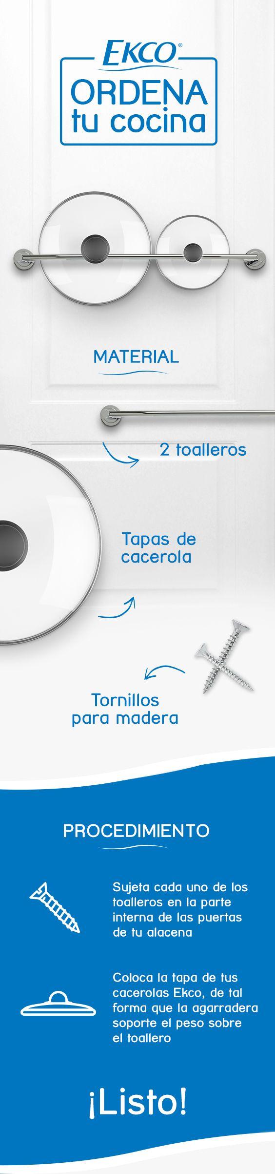 Mantén ordenadas las tapas de tus ollas con este sencillo #EkcoTip